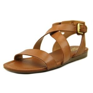 Franco Sarto Brown Glorious Saddle Sandal
